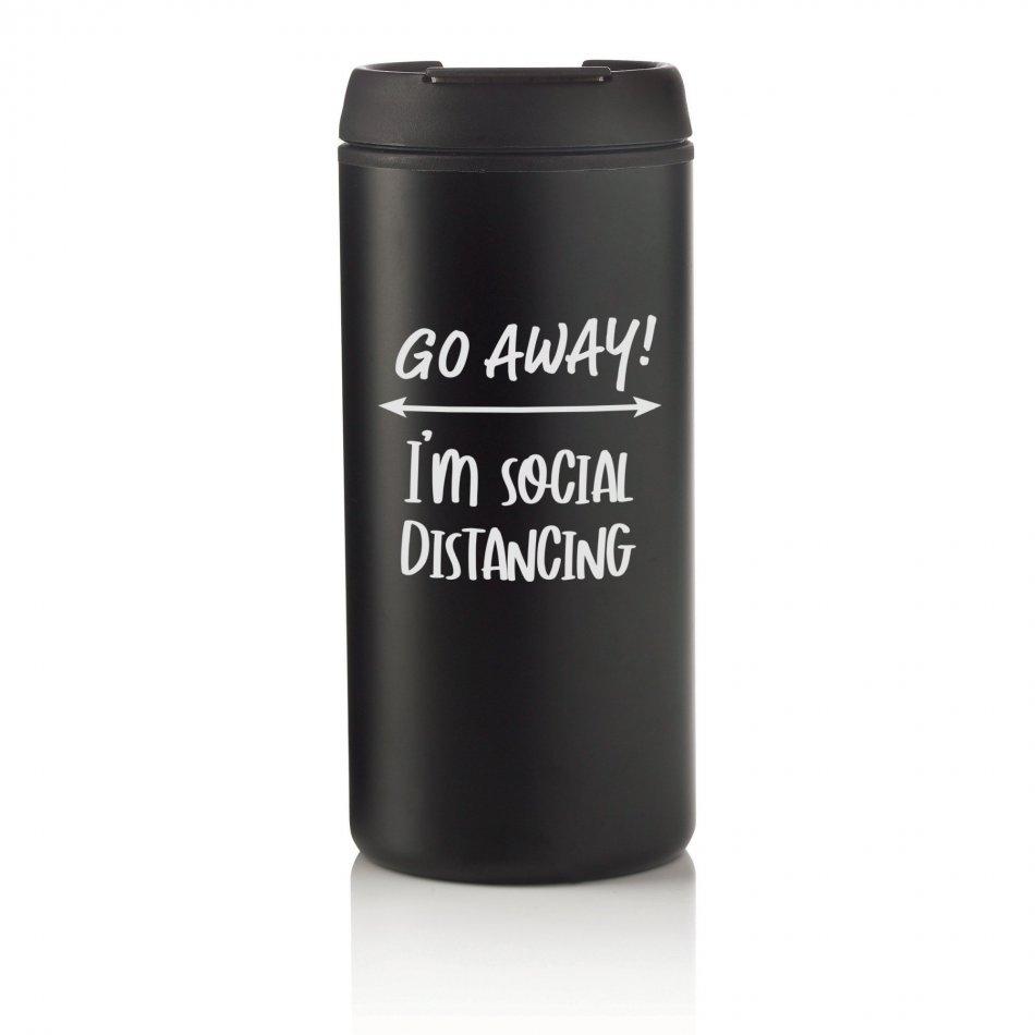 Coffee2Go Social Distancing Zwart